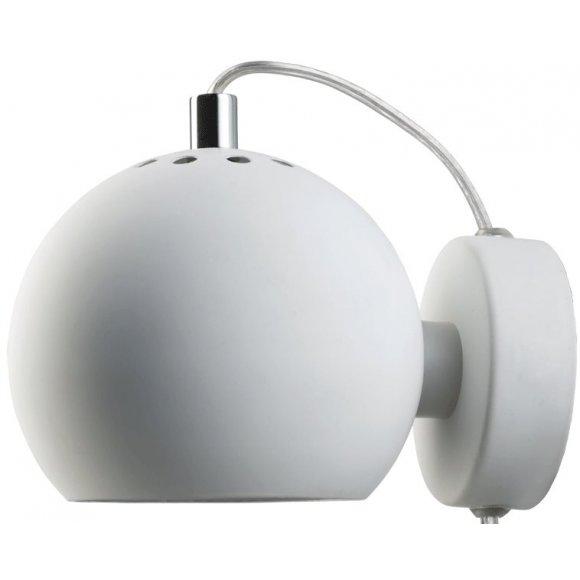 FRANDSEN - Ball væglampe mat hvid Ø12 cm (4750 06011)