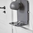 FRANDSEN - Frandsen Lighting Ball væglampe grå med usb stik