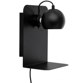 FRANDSEN - Frandsen Lighting Ball wall/black e14 med usb stik